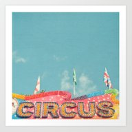Art Print featuring Circus Lights by Cassia Beck