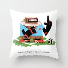 Wooden Robot Valentine Throw Pillow