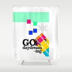 Gone Daydreamin'—art print/Metatron/sacred geometry/funnypretty Shower Curtain