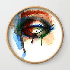 Watercolor Eye Wall Clock