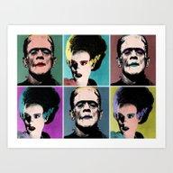 Mr. & Mrs. Frankenstein'… Art Print
