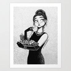 breakfast with Tiffany Art Print