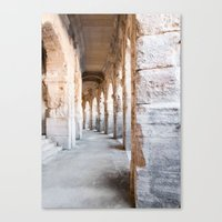Roman Amphitheatre Arches in Arles. Canvas Print