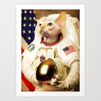 Astronaut Cat Art Print