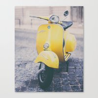 Make It Yellow Canvas Print
