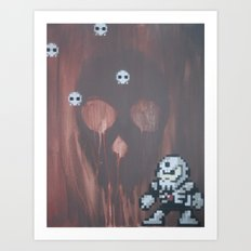 Skull man (megaman 4) Art Print