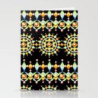 Suzani Sunburst Stripe Stationery Cards