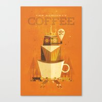 The Coffee Godess Canvas Print