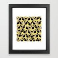 Pug Dogs Framed Art Print