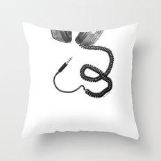 Headphone Culture Throw Pillow