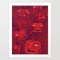Hairwolves Art Print