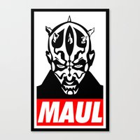 Obey Darth Maul (maul Te… Canvas Print