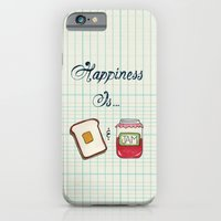iPhone & iPod Case featuring Happiness Is Toast & Jam by Heather Dutton