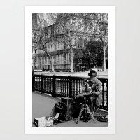 Street Musician Art Print