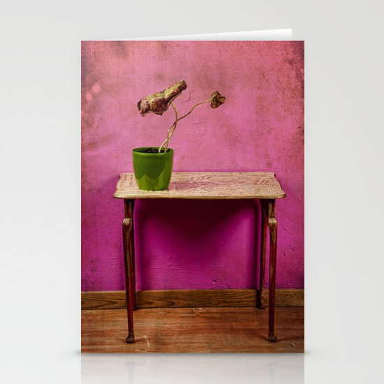 The colorful decay of plants Stationery Card