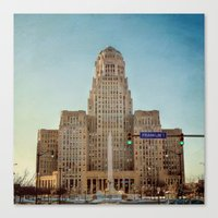 Down Town City Hall Buffalo NY  Color Canvas Print