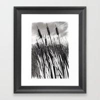 Cattail Field Framed Art Print