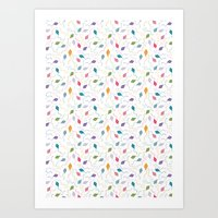Colourful kites Art Print