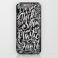 iPhone Cases featuring Elastic Heart B&W by Jillian Adel