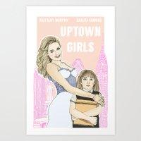 Uptown Girls Art Print