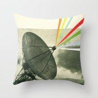 Earth Calling Throw Pillow
