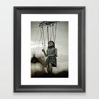 Girl Giant Framed Art Print