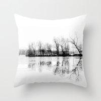 Cold Silence Throw Pillow