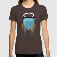 The Robot Womens Fitted Tee Brown SMALL