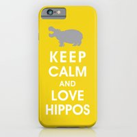Keep Calm And Love Hippo… iPhone 6 Slim Case