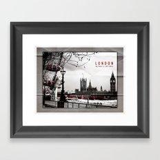 London Love Framed Art Print