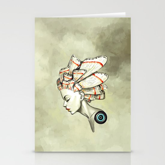Moth 2 Stationery Card
