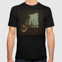From A Castle Mens Fitted Tee Tri-Black SMALL