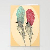 Bouffant Birds Stationery Cards