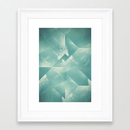 sky for walk Framed Art Print