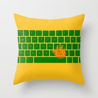 Spaceship Throw Pillow