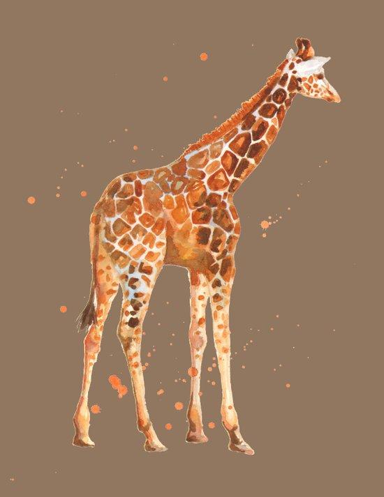 Giraffe in Mocha Art Print