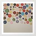 Random Buttons... Art Print