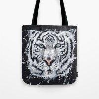 White Tiger Tote Bag