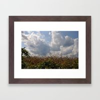 Harvest Landscape (Color Layers) Framed Art Print