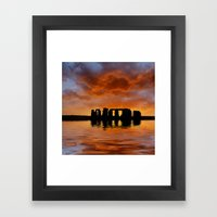 Stonehenge Sunrise, Wilt… Framed Art Print