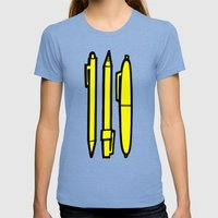Doodlers Win Womens Fitted Tee Tri-Blue SMALL