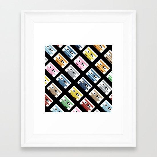 Rainbow Tapes 45 Framed Art Print