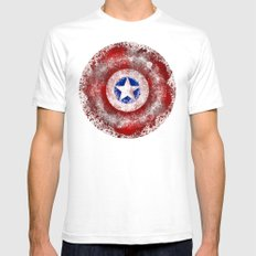 Avengers - Captain Ameri… Mens Fitted Tee White SMALL