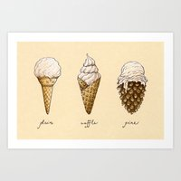Ice Cream Cones Art Print
