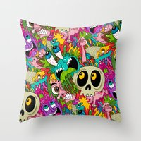 Puke Pattern Throw Pillow