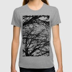 black tree Womens Fitted Tee Tri-Grey SMALL