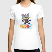 Mazinger ! Womens Fitted Tee White SMALL