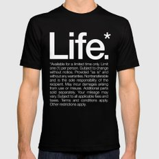 Life.* Available for a limited time only. SMALL Black Mens Fitted Tee