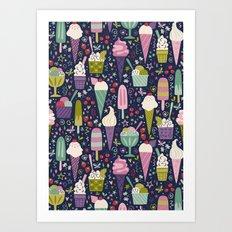 Summer Delights (dark) Art Print