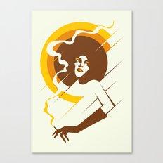 Retropolitan (warm) Canvas Print